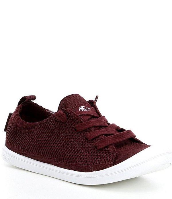 ロキシー レディース ドレスシューズ シューズ Women's Bayshore Knit III Sneakers Dark Red