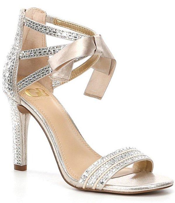 ジービー レディース サンダル シューズ Prom-Queen Rhinestone Bow Stiletto Dress Sandals Gold