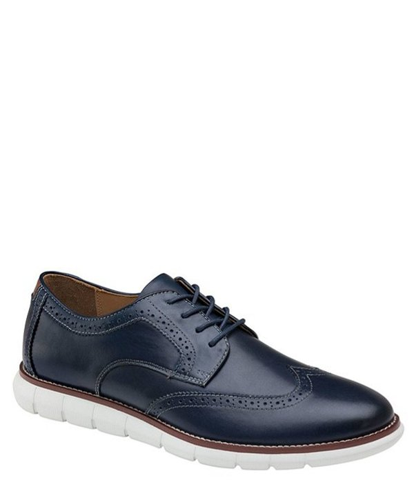 ジョンストンアンドマーフィー メンズ ドレスシューズ シューズ Men's Holden Wingtip Lace-Up Shoes Navy