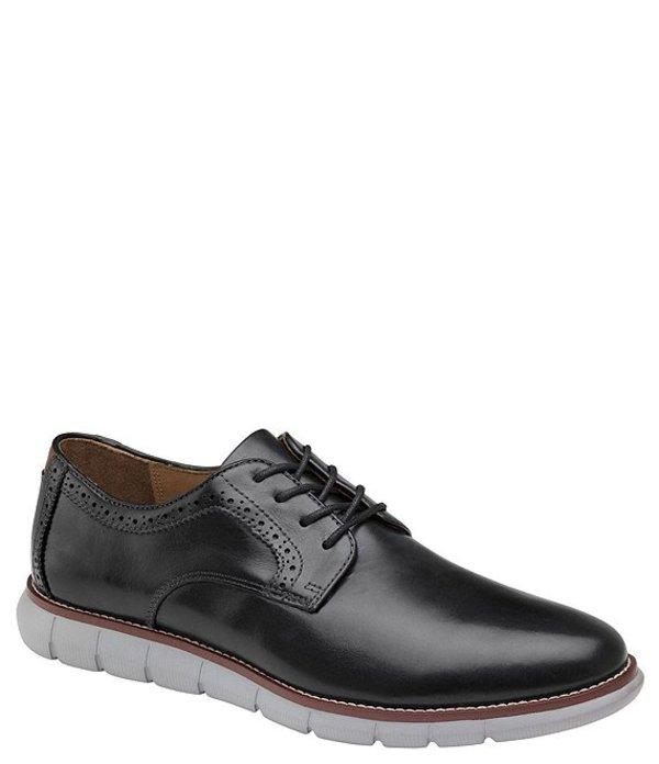 ジョンストンアンドマーフィー メンズ ドレスシューズ シューズ Men's Holden Leather Plain Toe Oxfords Black