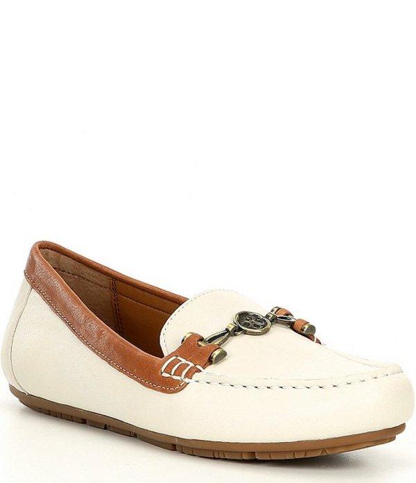 パトリシアナシュ レディース スリッポン・ローファー シューズ Trevi Washed Leather Bit Loafers Ivory/Tan