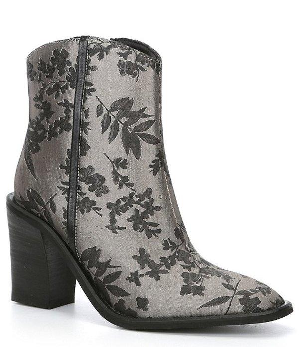 フリーピープル レディース ブーツ・レインブーツ シューズ Barclay Brocade Western Block Heel Ankle Boots Black Combo