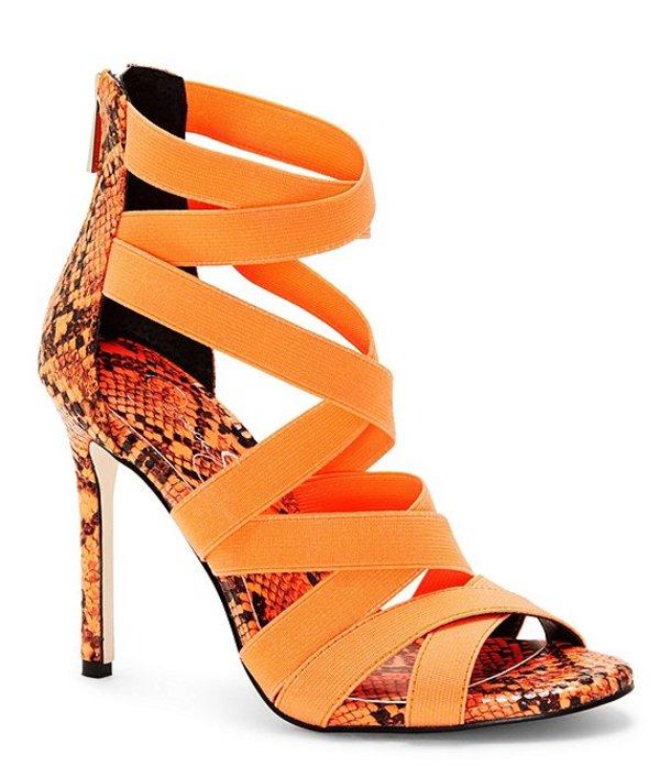 ジェシカシンプソン レディース サンダル シューズ Jyra Neon Snake-Print Strappy Dress Sandals Neon Orange