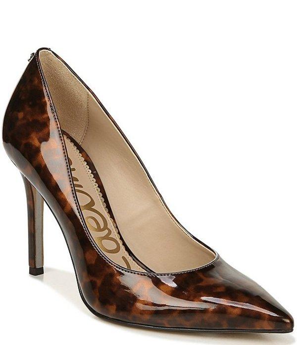 サムエデルマン レディース ヒール シューズ Hazel Patent Tortoise Pointed Toe Pumps Black/Brown