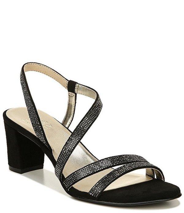 ナチュライザー レディース サンダル シューズ Vanessa Strappy Crystal Detail Block Heel Evening Dress Sandals Black
