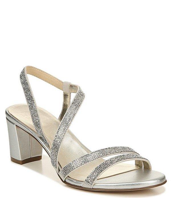 ナチュライザー レディース サンダル シューズ Vanessa Strappy Crystal Detail Block Heel Evening Dress Sandals Silver