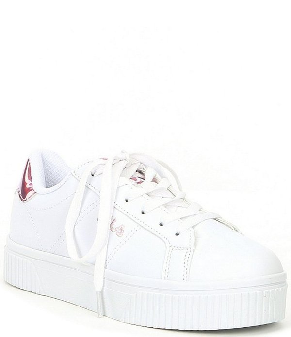 フィラ レディース ドレスシューズ シューズ Women's Panache 19 Chunky Lace-Up Sneaker White/White Pink