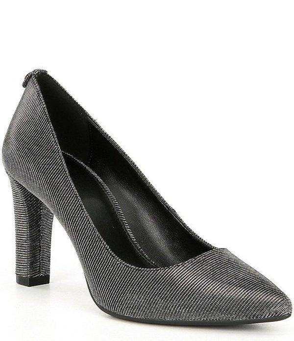 マイケルコース レディース ヒール シューズ Abbi Flex Glitter Fabric Pointed Toe Pumps Black