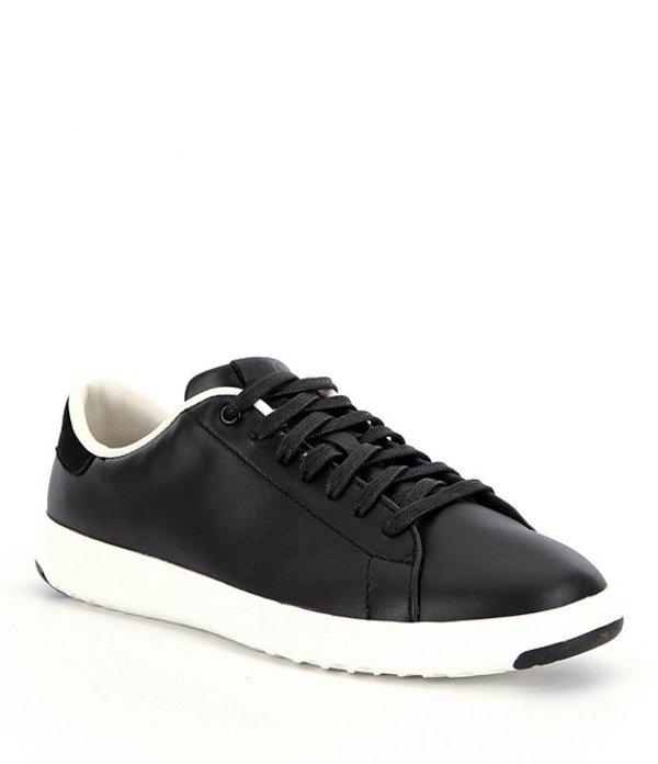 コールハーン レディース ドレスシューズ シューズ GrandPro Leather Tennis Sneakers Black/Optic White