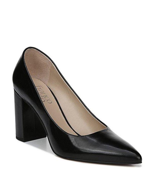 フランコサルト レディース ヒール シューズ Palma Leather Block Heel Pumps Black