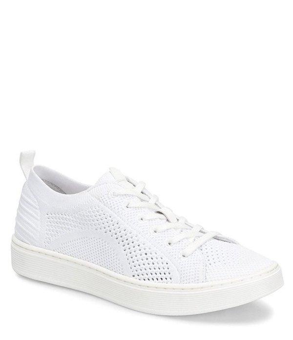 ソフト レディース ドレスシューズ シューズ Somers Knit Lace Up Sneakers White