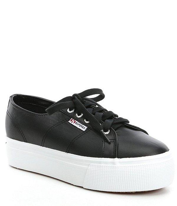 スペルガ レディース ドレスシューズ シューズ Women's 2790 Nappa Leather Flatform Sneakers Black