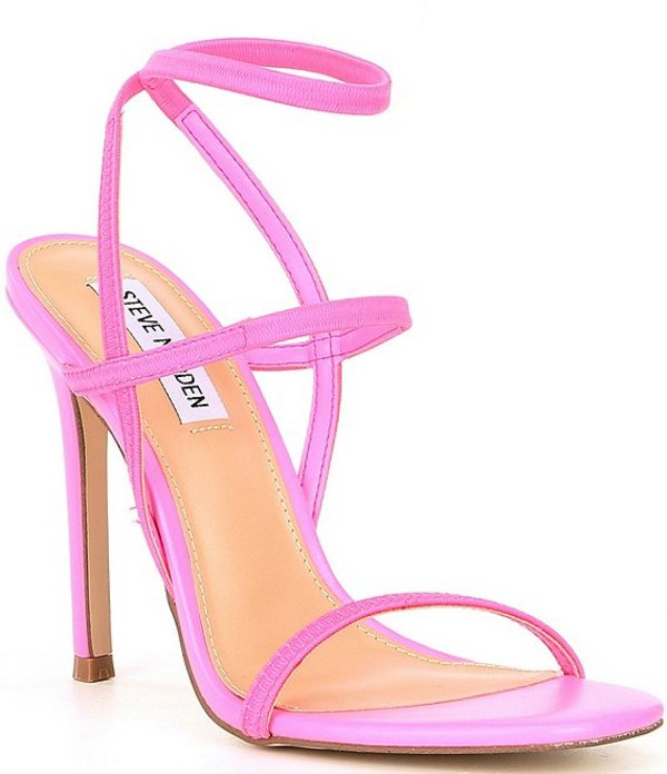 スティーブ マデン レディース サンダル シューズ Nectur Strappy Stiletto Sandals Pink Neon