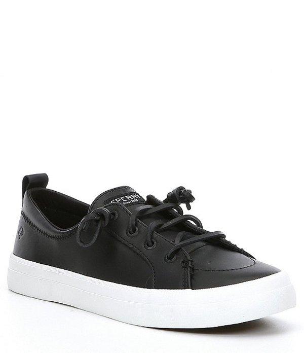 スペリー レディース ドレスシューズ シューズ Women's Crest Vibe Leather Sneakers Black