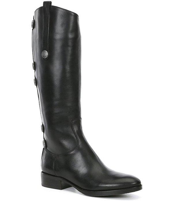 ジャンビニ レディース ブーツ・レインブーツ シューズ Lanziee Leather Metal Snap Detail Tall Riding Boots Black