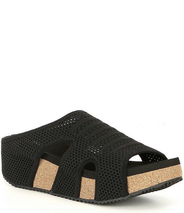 ボラティル レディース サンダル シューズ Covey Fly Knit & Cork Slip Ons Black