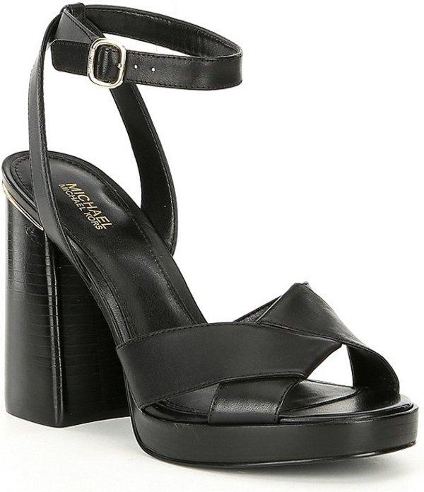 マイケルコース レディース サンダル シューズ Michael Michael Kors Fallon Leather Sandals Black