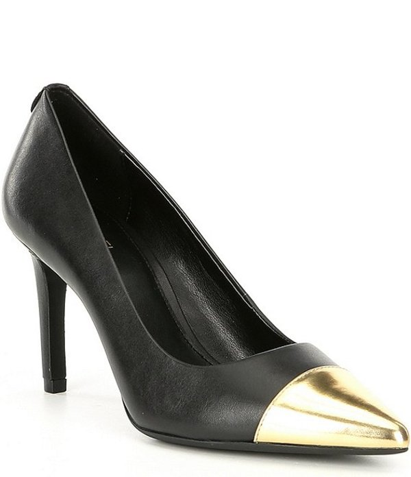 マイケルコース レディース ヒール シューズ Michael Michael Kors Dorothy Flex Mid Cap Toe Pumps Black/Gold