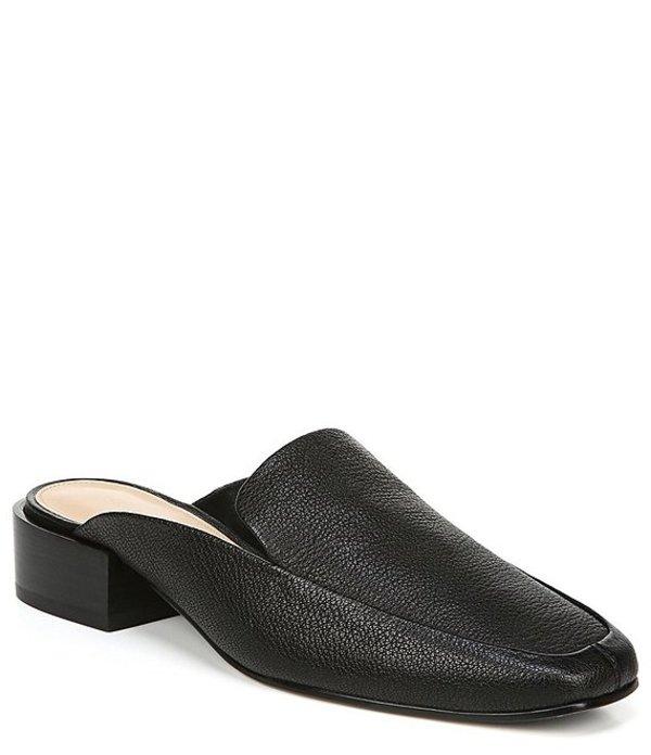 ヴィアスピガ レディース サンダル シューズ Bibiane Leather Block Heel Mules Black