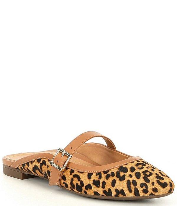 バイオニック レディース サンダル シューズ Esme Leopard Print Mule Tan