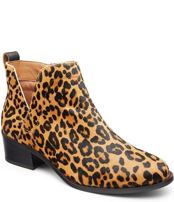 バイオニック レディース ブーツ・レインブーツ シューズ WALK.MOVE.LIVE Clara Leopard Print Hair Calf Booties Tan
