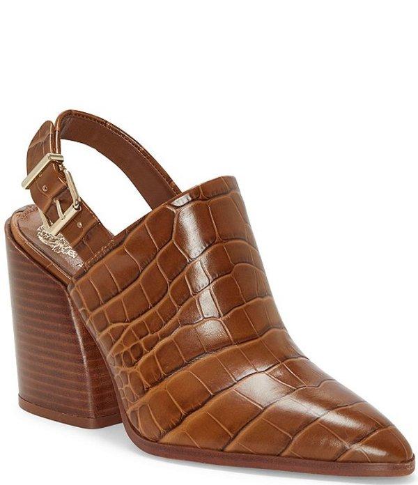 ヴィンスカムート レディース サンダル シューズ Chemine Croco Print Leather Sling Pointed Toe Shooties Scotch