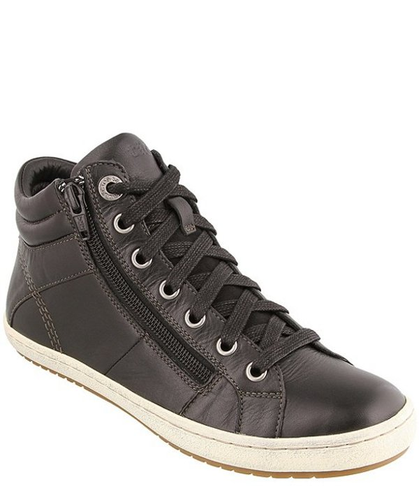 タオスフットウェア レディース ドレスシューズ シューズ Union Leather High Top Zip Sneakers Black