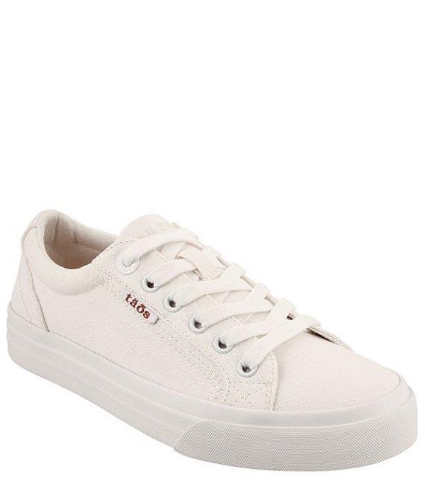 タオスフットウェア レディース ドレスシューズ シューズ Plim Soul Canvas Sneakers White Canvas