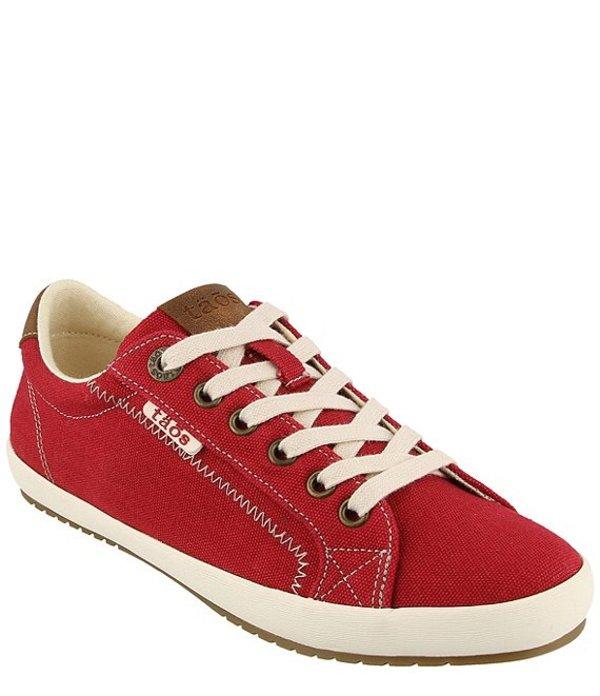 タオスフットウェア レディース ドレスシューズ シューズ Star Burst Canvas Sneakers Red/Tan