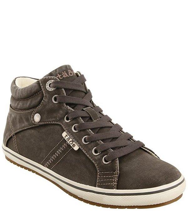 タオスフットウェア レディース ドレスシューズ シューズ Top Star High Top Canvas Sneakers Graphite Distressed