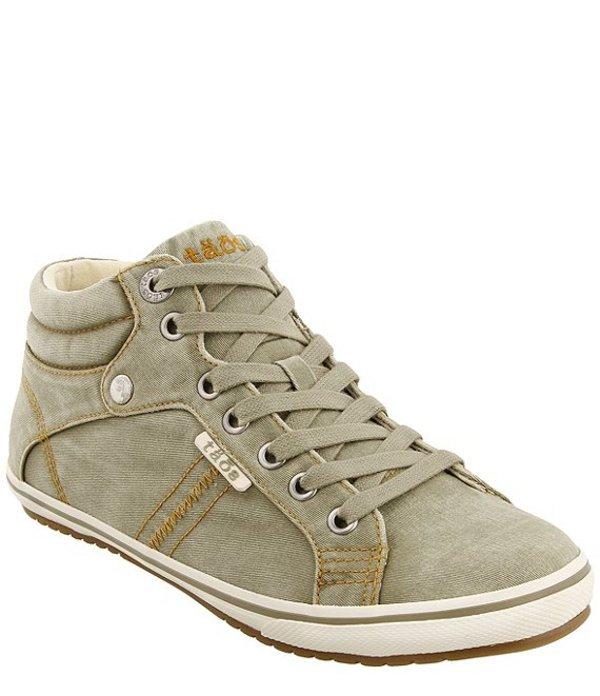 タオスフットウェア レディース ドレスシューズ シューズ Top Star High Top Canvas Sneakers Sage Distressed