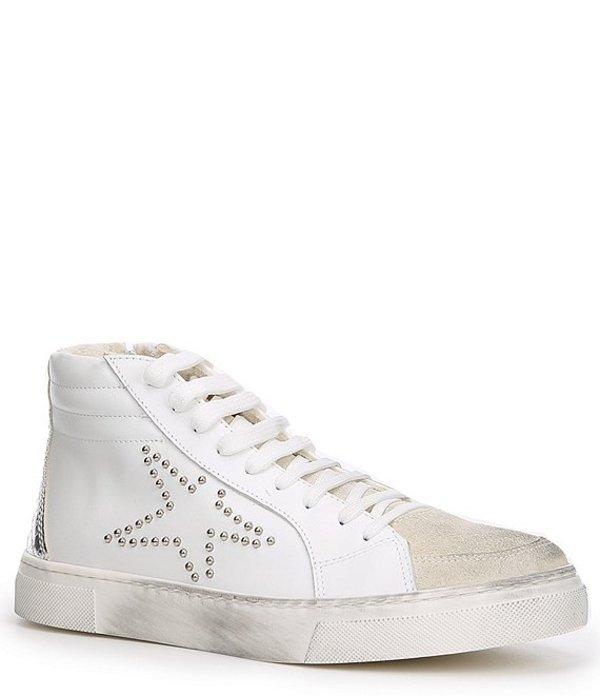スティーブ マデン レディース ドレスシューズ シューズ Steven by Steve Madden Roary Leather & Suede High-Top Star Print Platform Sneakers White/Multi