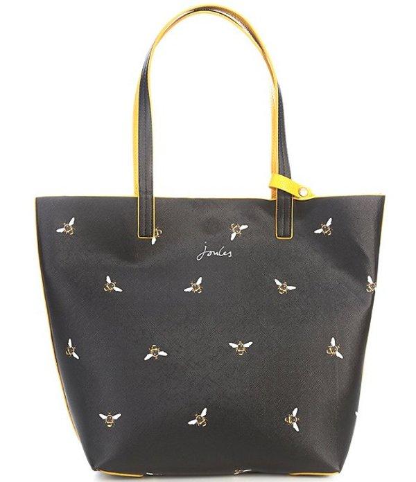 ジュールズ レディース ショルダーバッグ バッグ Revery Bee Print Faux Leather Reversible Bag Black Bee
