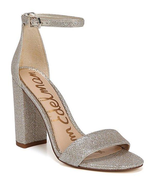 サムエデルマン レディース サンダル シューズ Yaro Glam Mesh Ankle Strap Block Heel Dress Sandals Jute