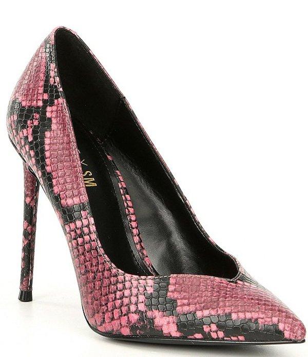 スティーブ マデン レディース ヒール シューズ Winnie Harlow x Steve Madden Princess Snake-Print Pumps Pink Snake