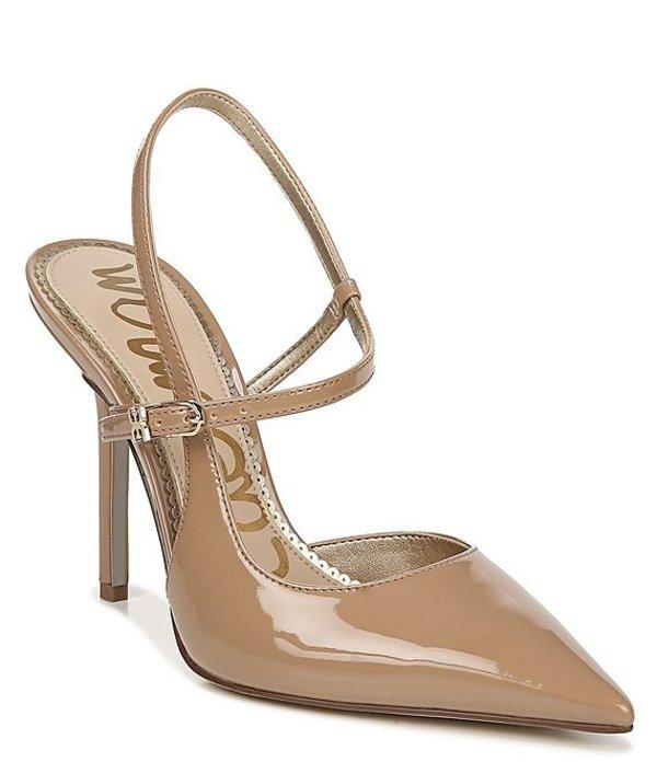 サムエデルマン レディース ヒール シューズ Ayla Patent Ankle Strap Stiletto Pointed Toe Pumps Rosa Nude