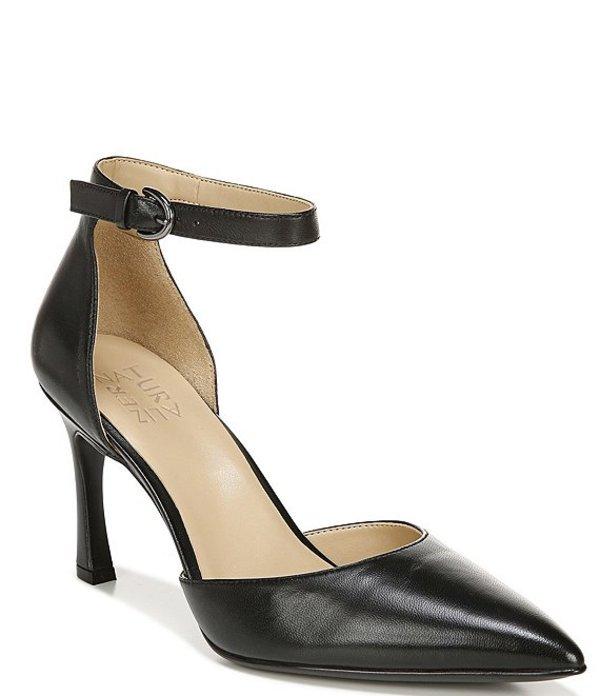 ナチュライザー レディース ヒール シューズ Aurelia Ankle Strap Leather Pumps Black Leather