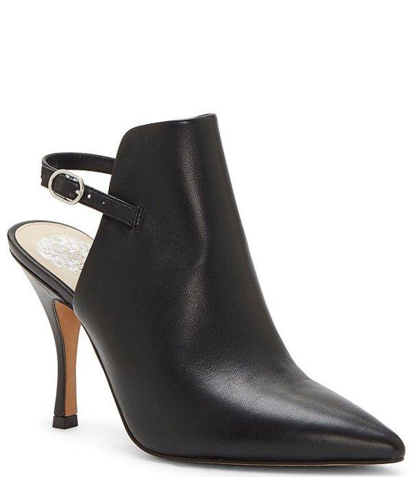 ヴィンスカムート レディース ブーツ・レインブーツ シューズ Keveen Leather Pointed Toe Shooties Black