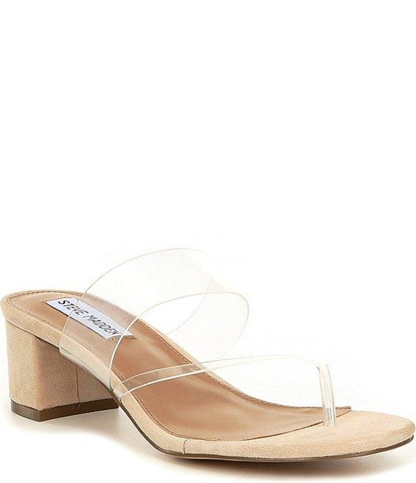 スティーブ マデン レディース サンダル シューズ Ronan Clear Block Heel Dress Sandals Nude/Multi