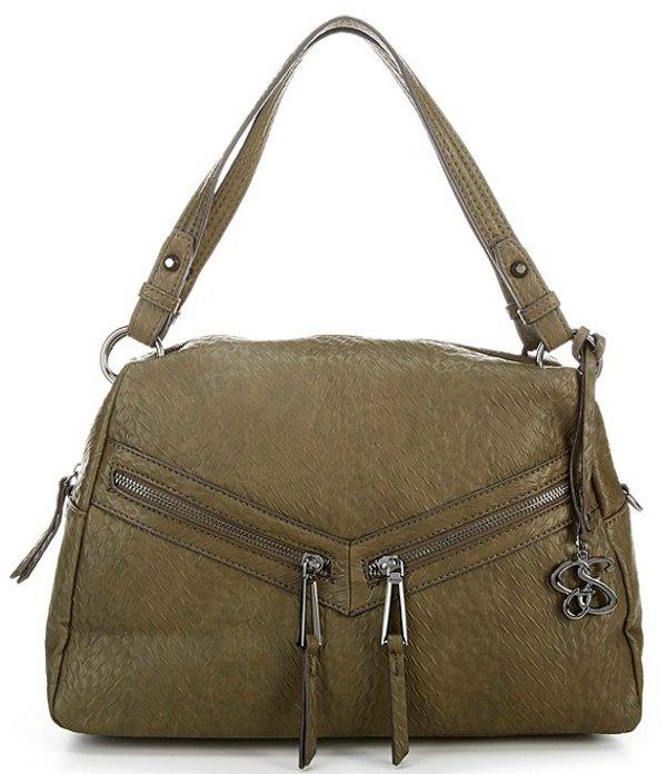 ジェシカシンプソン レディース ハンドバッグ バッグ Nova Top Handle Zipper Satchel Bag Olive