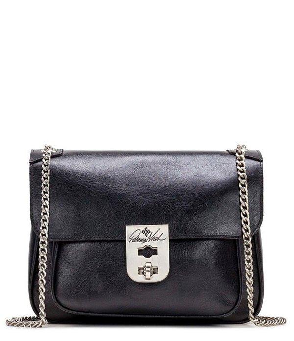 パトリシアナシュ レディース ショルダーバッグ バッグ Heritage Collection Esbly Chain Leather Shoulder Bag Black