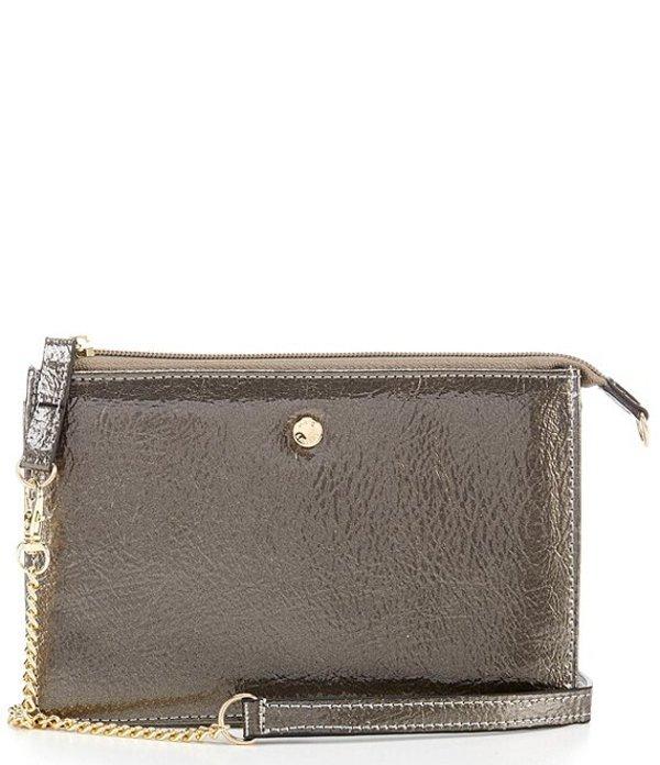ケイトランドリー レディース ショルダーバッグ バッグ Patent Convertible Chain Wallet Shoulder Bag Pewter