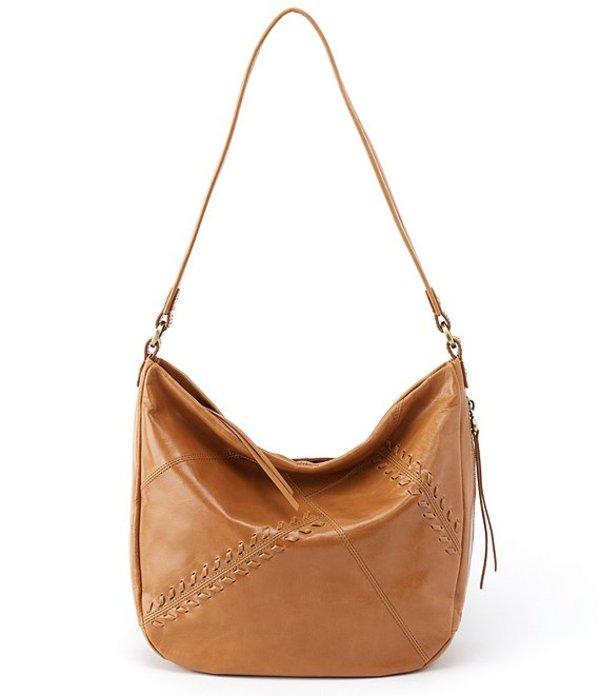 ホボ レディース ショルダーバッグ バッグ Garner Leather Zip Hobo Bag Honey