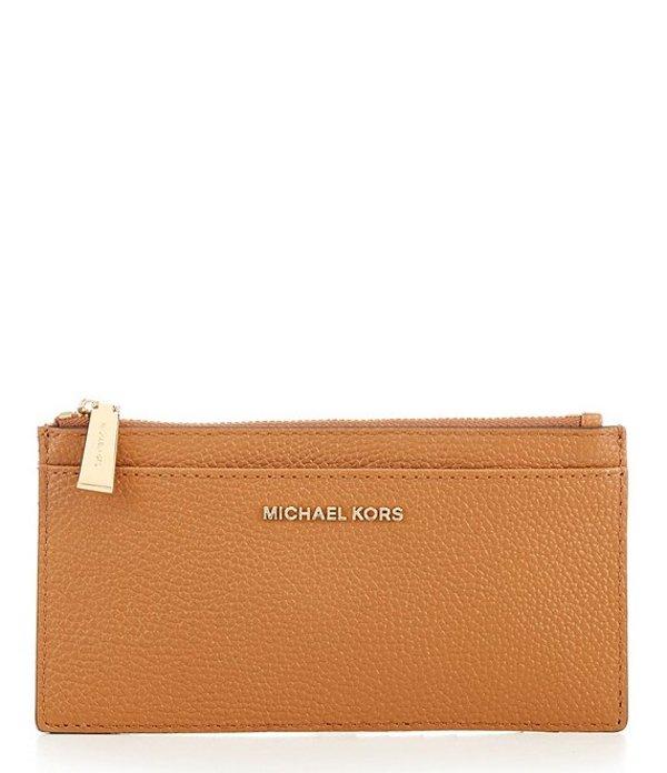 マイケルコース レディース ハンドバッグ バッグ Large Leather Slim Card Case Acorn