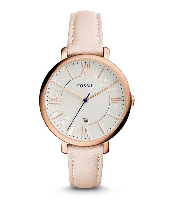 フォッシル レディース 腕時計 アクセサリー Jacqueline Date Blush Leather Watch Blush
