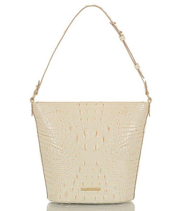 ブランミン レディース ショルダーバッグ バッグ Melbourne Collection Crocodile-Embossed Quinn Bucket Bag Crystal