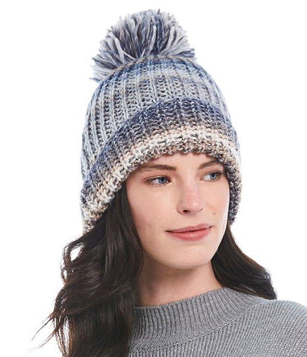 ディラーズ レディース 帽子 アクセサリー Space Dye Stripe Pom Beanie Neutral Multi