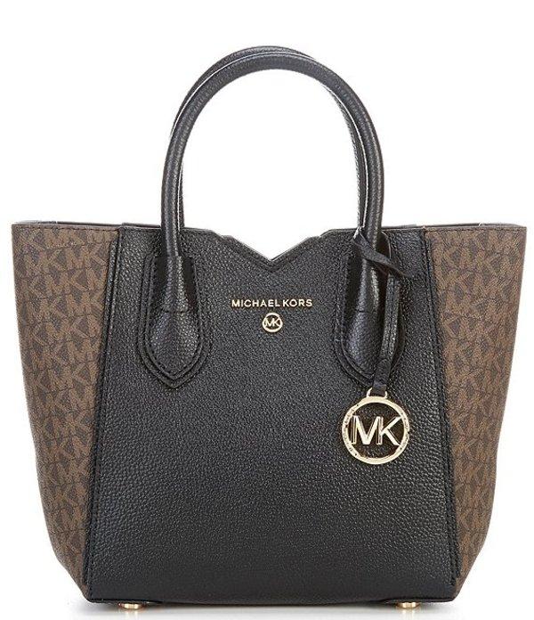 マイケルコース レディース ハンドバッグ バッグ Signature Mae Small Messenger Bag Brown/Black