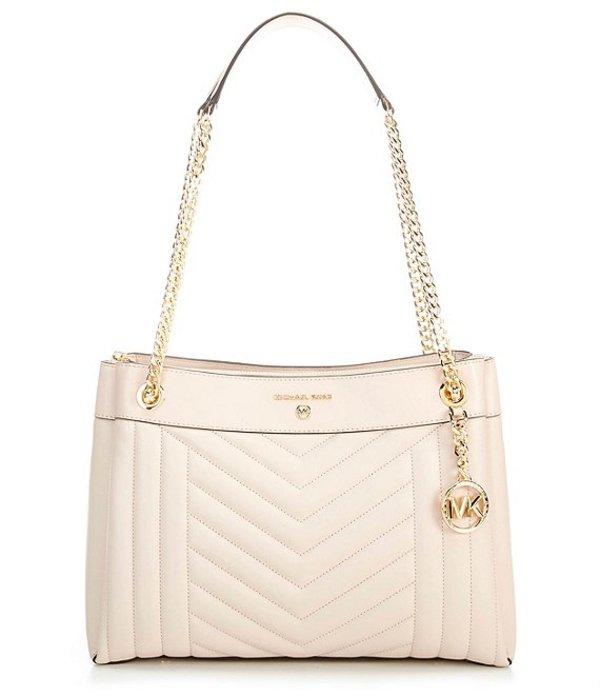 マイケルコース レディース ハンドバッグ バッグ Susan Medium Leather Zip Shoulder Bag Soft Pink