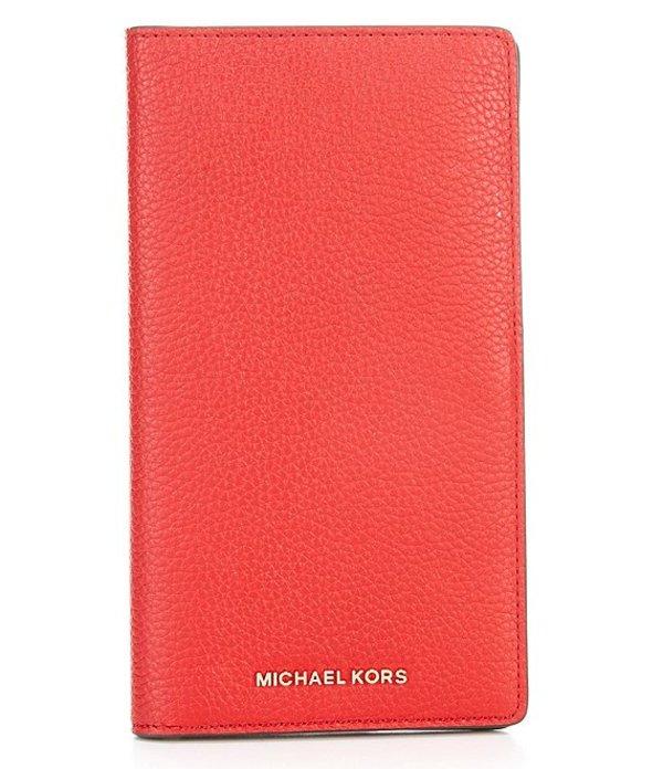 マイケルコース レディース ハンドバッグ バッグ Bedford Legacy Large Pebble Leather Travel Wallet Bright Red